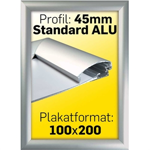 Billig smart alu klap ramme 45 mm profil