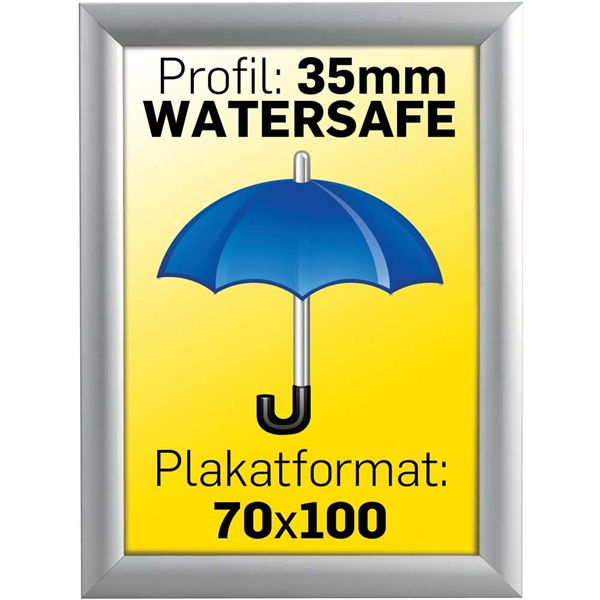 Billig watersafe klapramme 70 x 100 cm 35 mm profil
