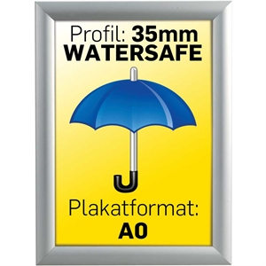 Billig watersafe klapramme A0 84,1 x 118,9 cm 35 mm profil
