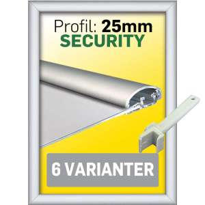 SECURITY Ramme 25 mm Alu