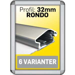 RONDO snap ramme 32 mm Alu
