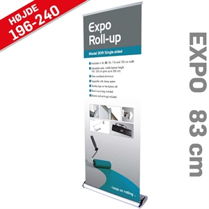 Billig enkeltsidet Roll Up model Expo