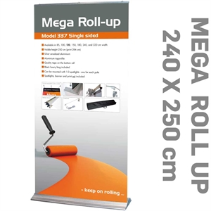 Billig enkeltsidet mega Roll-Up god kvalitet