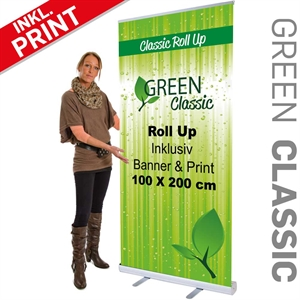 Billig roll up Classic med banner og print