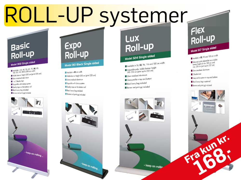 Roll up systemer