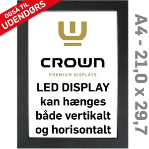 CROWN LED Out box - Enkeltsidet - Sort