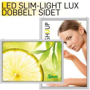 LED Slim Lightbox dobbelt