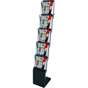 Billig smart foldbar brochurestander 5 x A4
