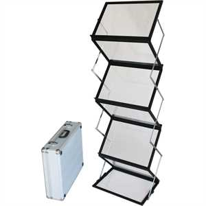 FLEX BROCHURE STAND 6 x A3 Sort