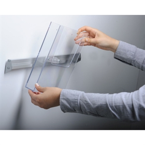 Ekstra Brochureholder WALL - Transparent akryl - 1 x A4