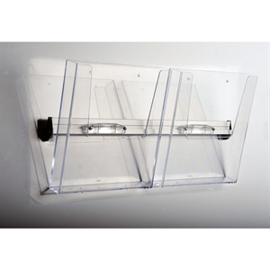 Ekstra Brochureholder WALL - Transparent akryl - 2 x M65