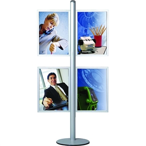 MULTISTAND 15 - 4 x SLIDE-IN Alu/elox. - 4 x (50x70cm) Vertical