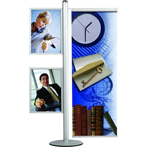 MULTISTAND 16 - 2 x SLIDE-IN & BANNER Alu/elox. - 2 x A2 + Banner 50cm