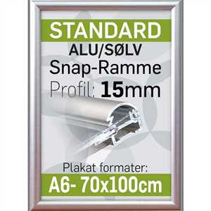 Billig alu snap frame 15 mm