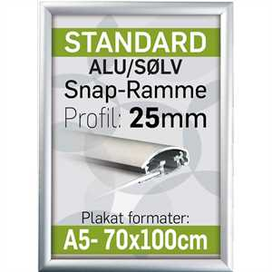 Billig snap frame 25 mm alu profil