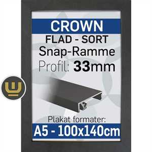 B2 sort klap ramme 50 x 70 cm Crown