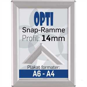 Opti Snap-Ramme m 14 mm Alu