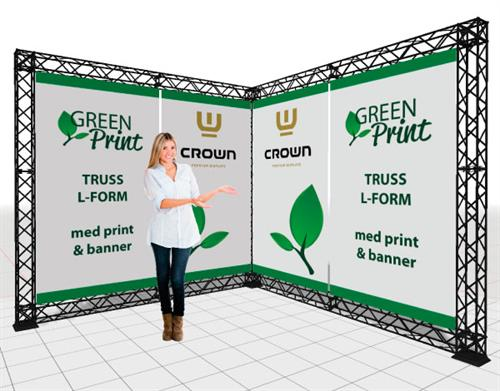 Crown TRUSS med banner og print