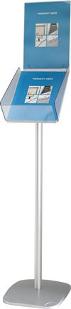 Billig brochure stand med indo top A4